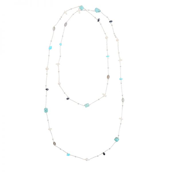 Collier Turquoise Waves